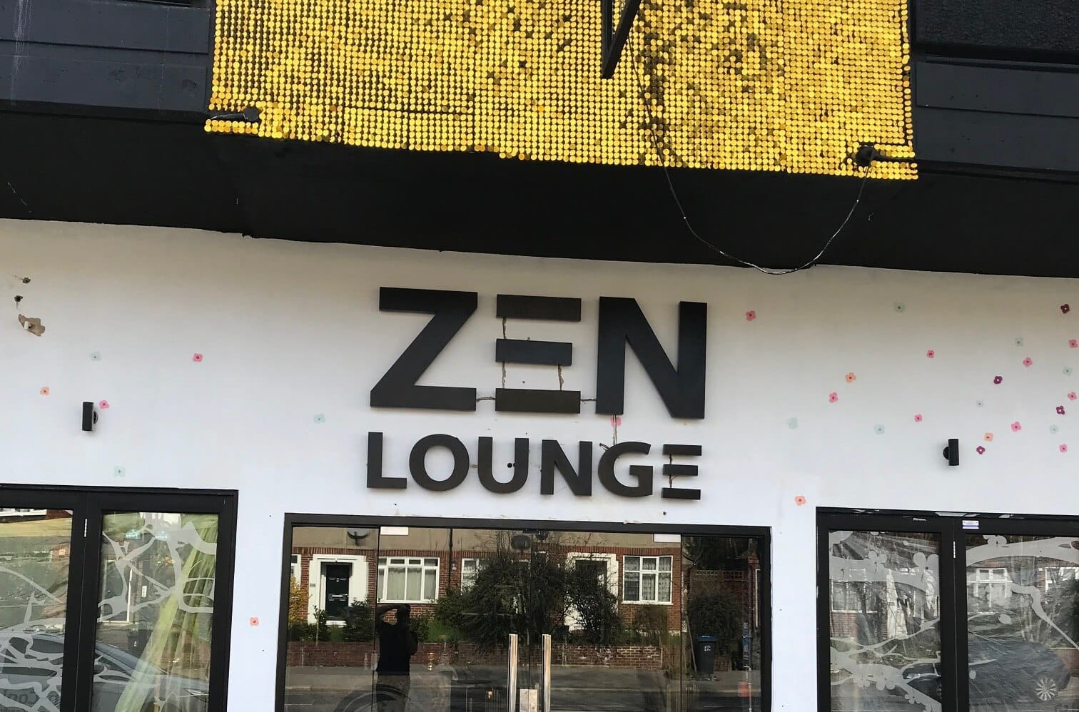 The exterior of the Zen Lounge nightclub