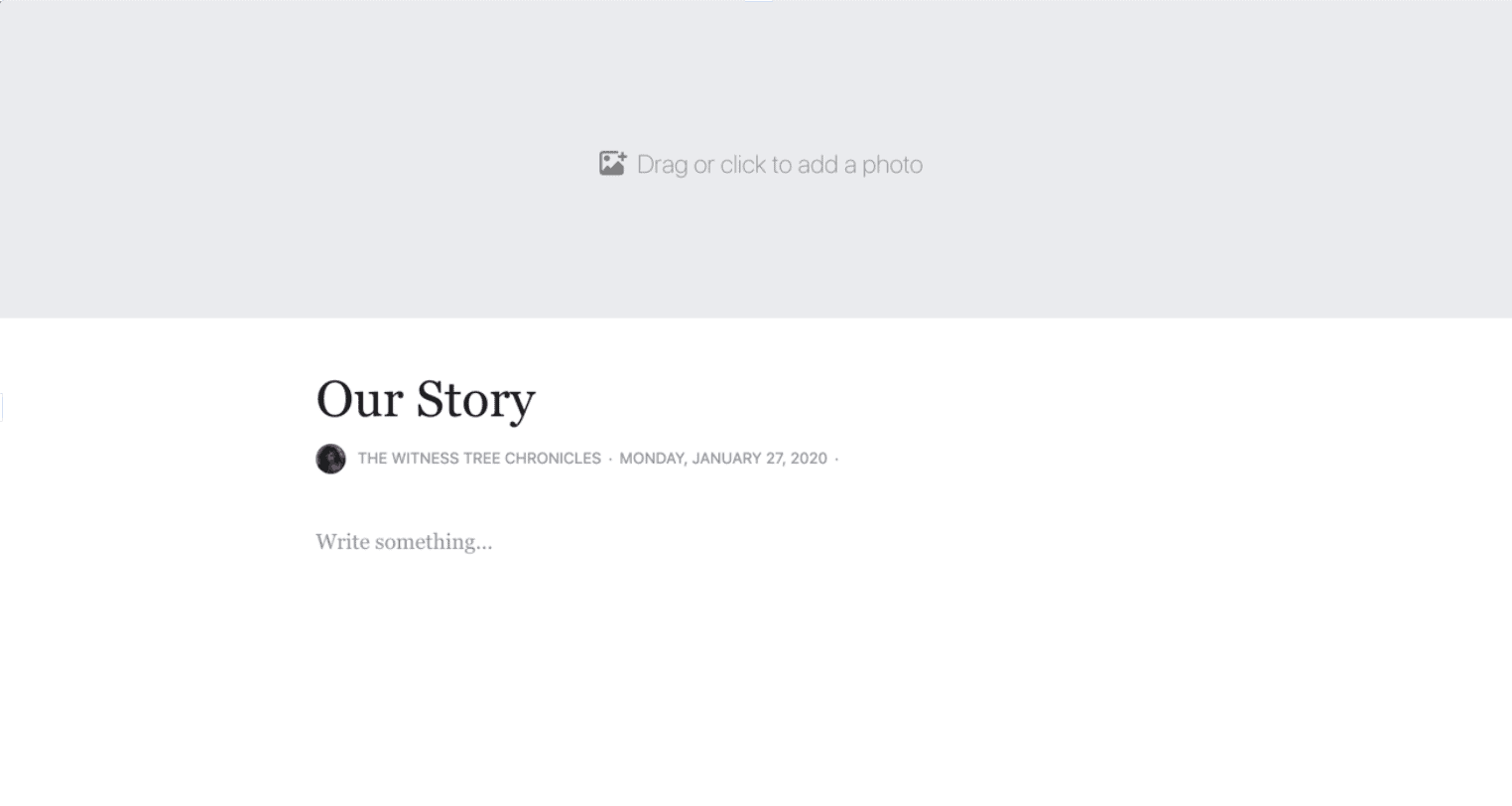 our story facebook page preview