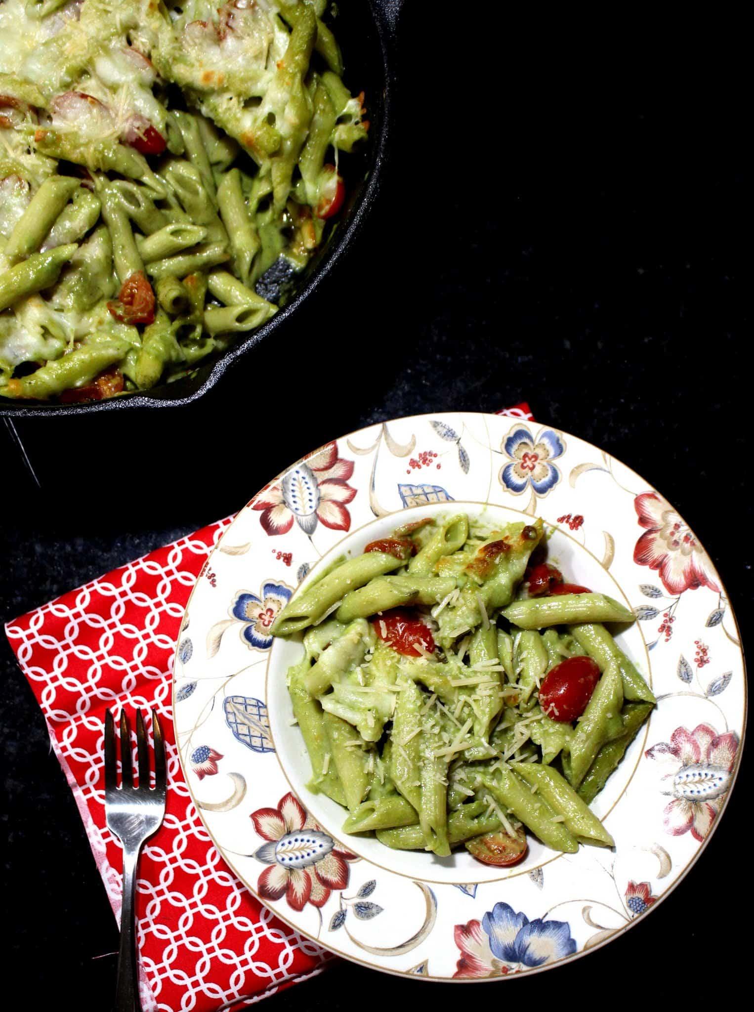 Creamy Pesto Pasta Bake %%
