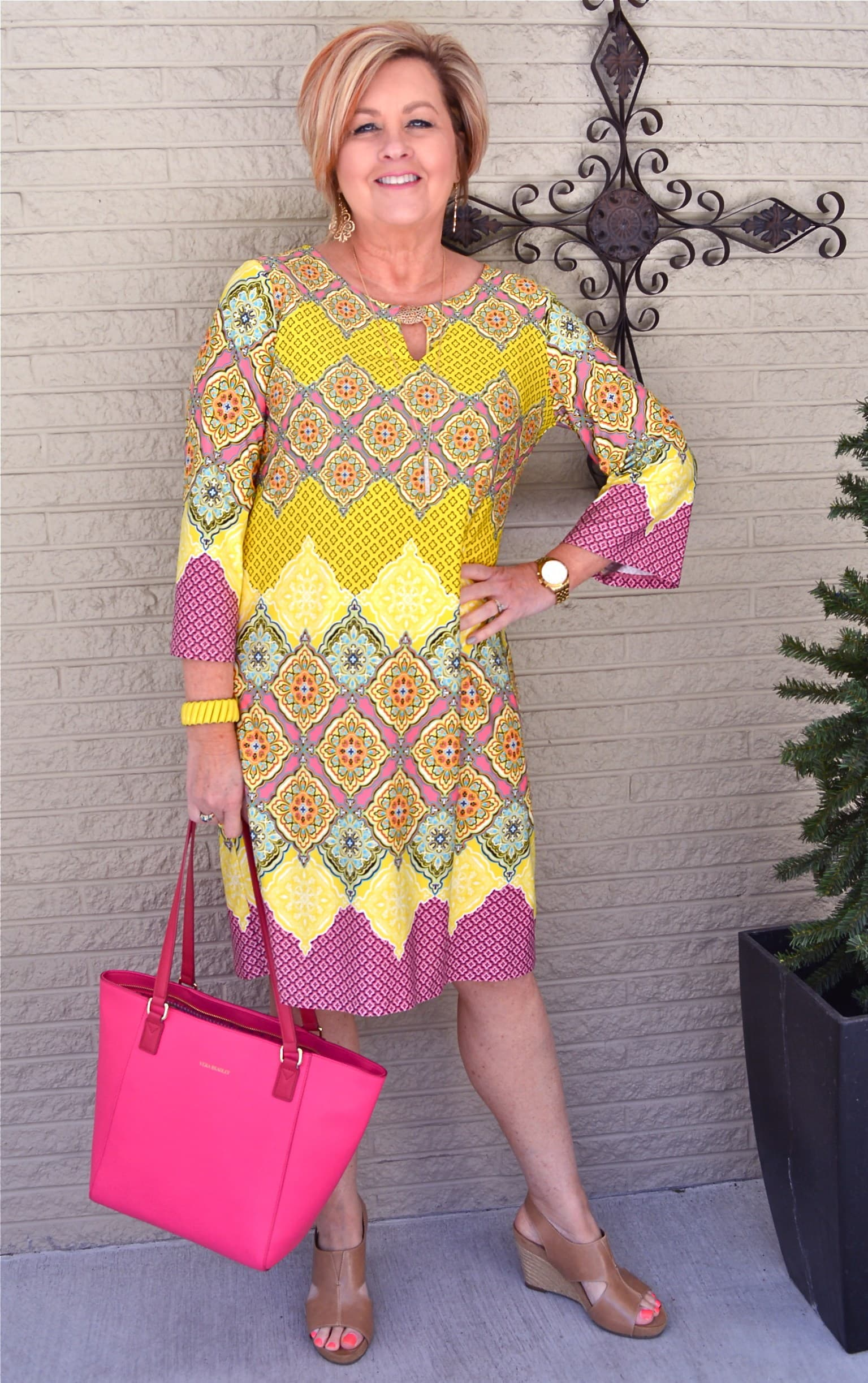 bright yellow dress | 40plusstyle