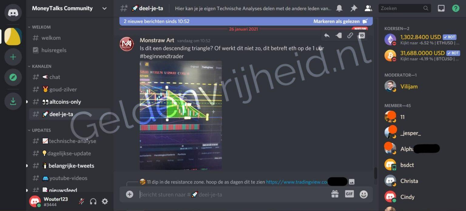 MoneyTalks community review deel je ta screenshot