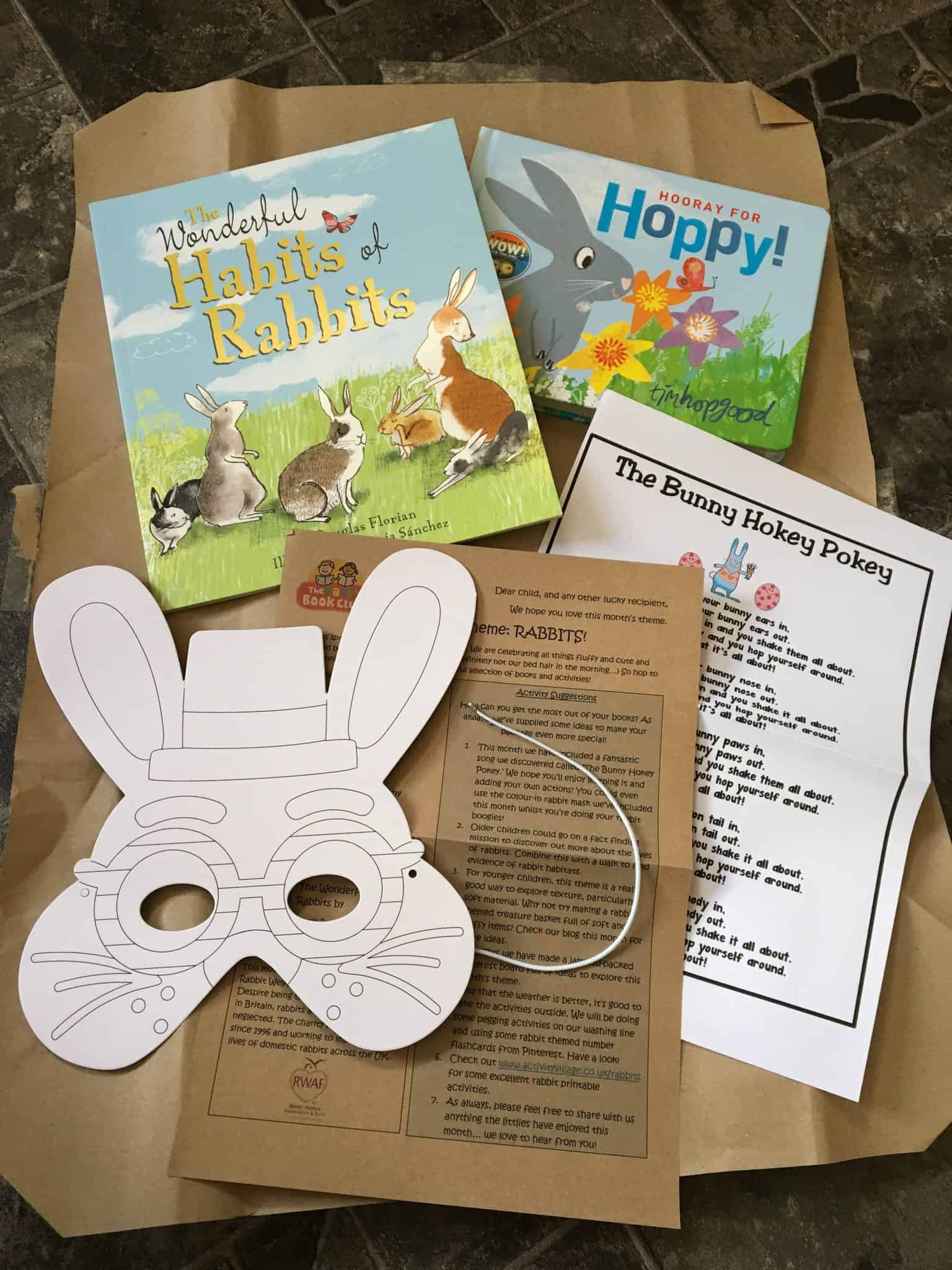 Inside April's The Happy Book Club package