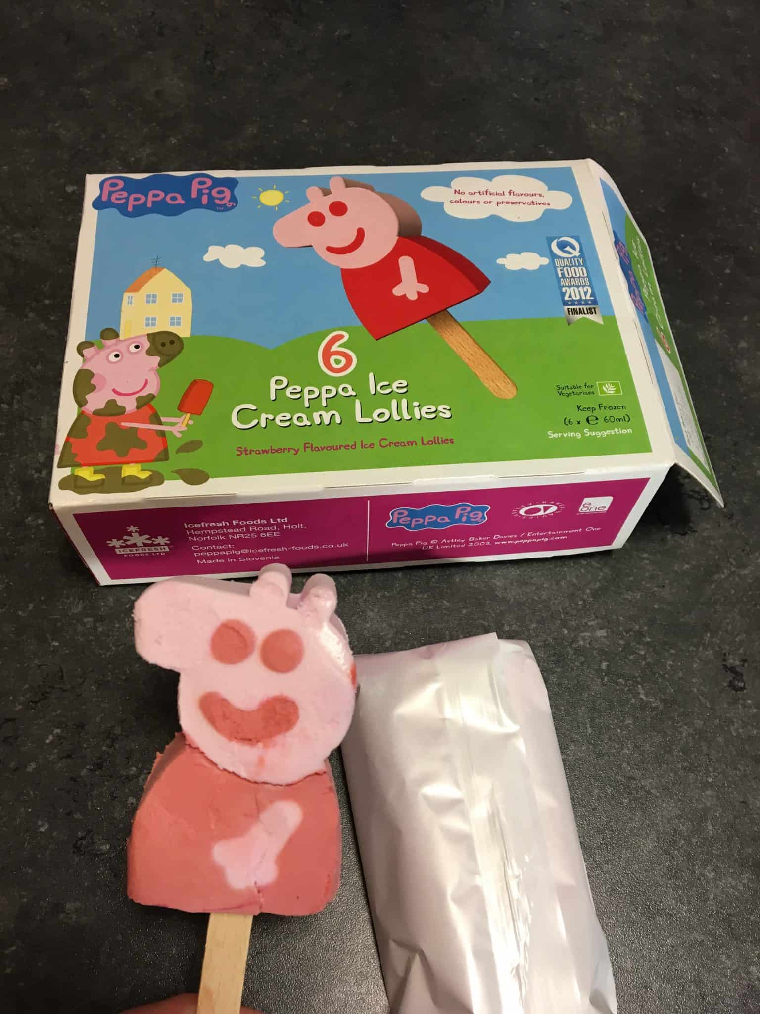 Peppa Ice Cream Lollies