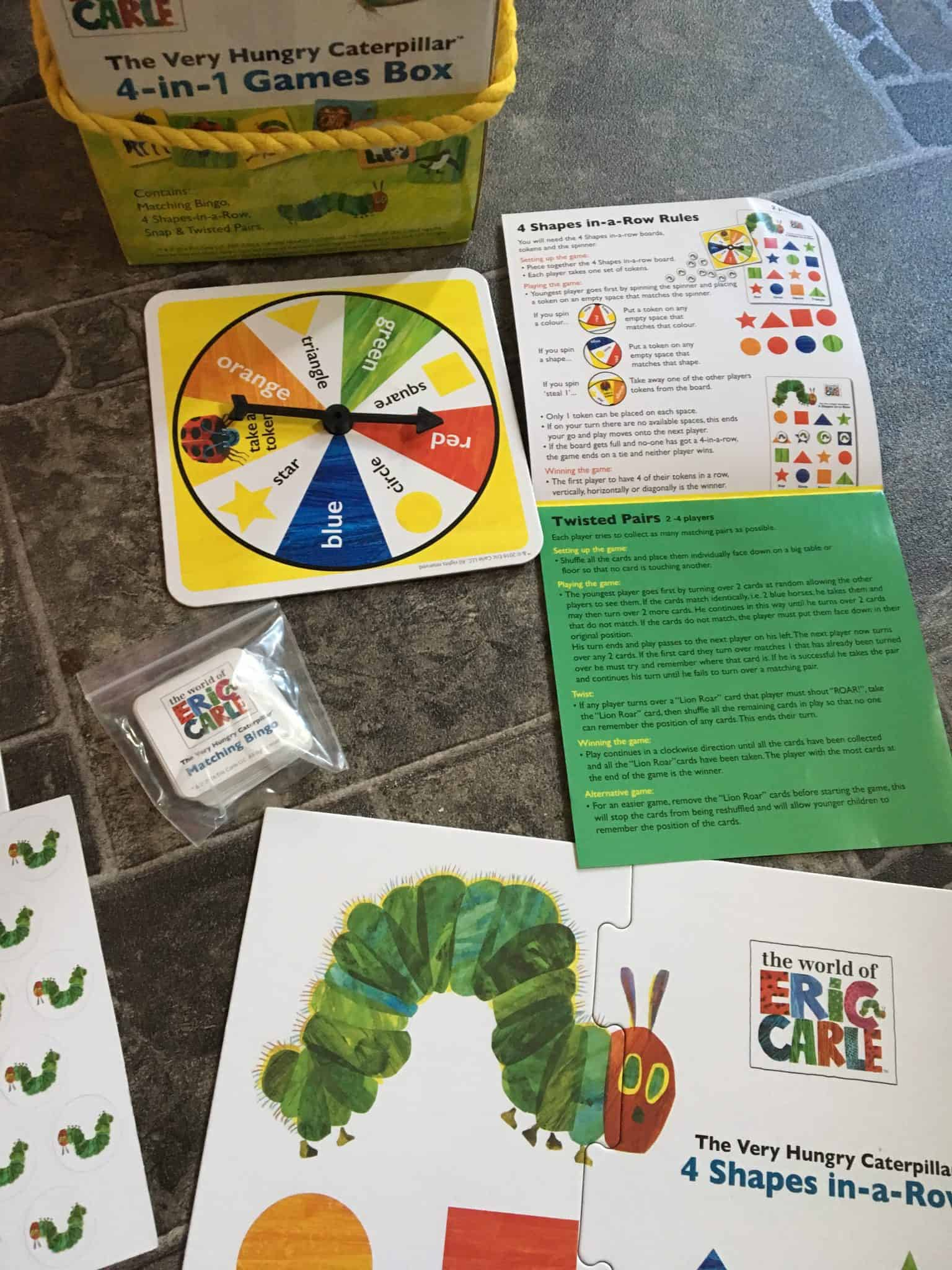 The Very Hungry Caterpillar 4-in1 games box