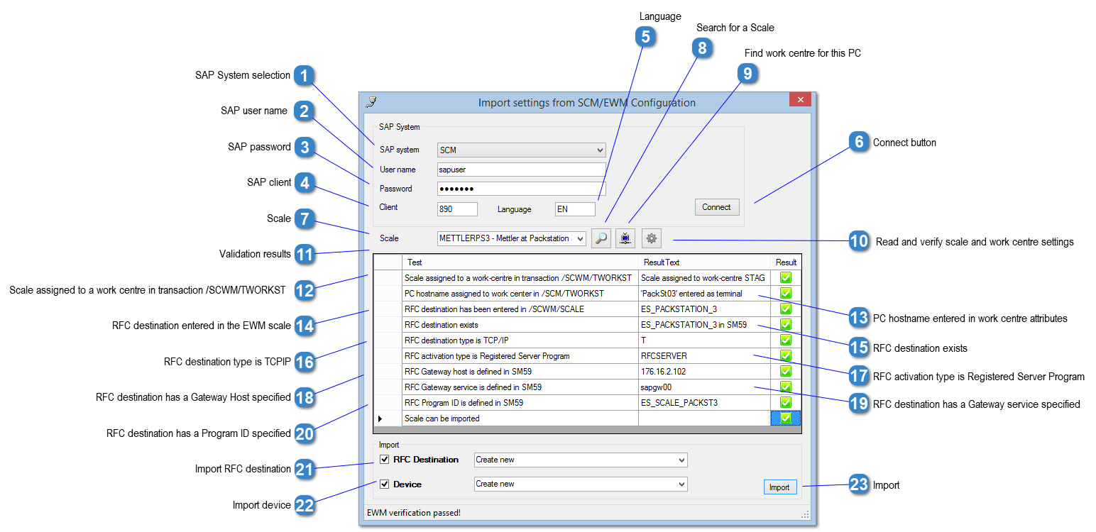 Import Scale Settings from EWM Configuration