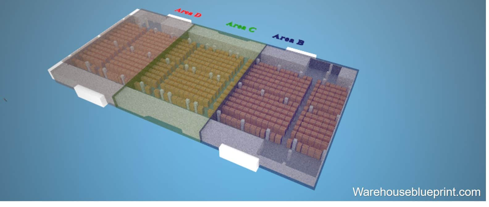 Warehouse Layout 5 - rendered