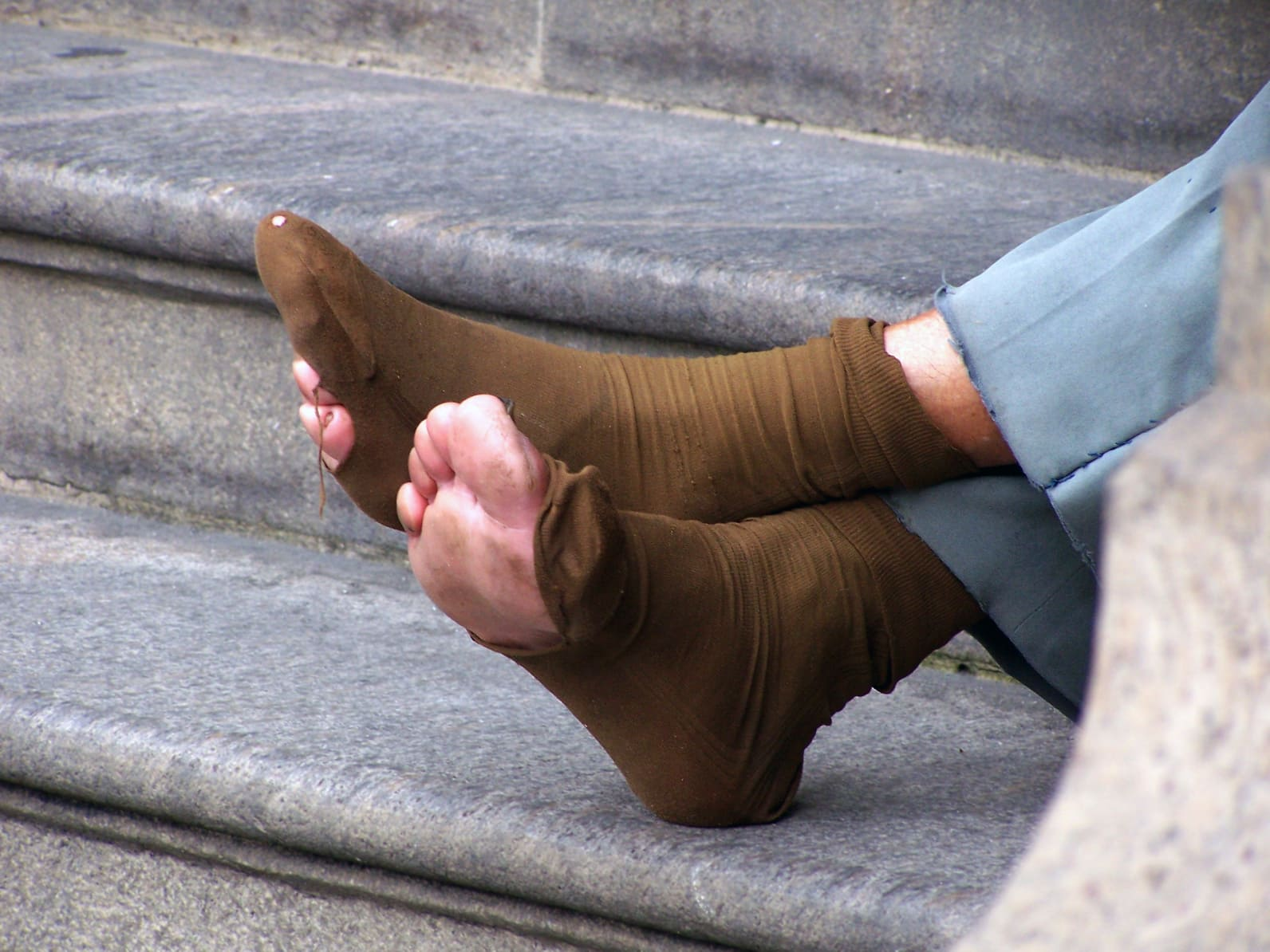 The homeless are in dire need of socks. The Joy of Sox - socks for the homeless.