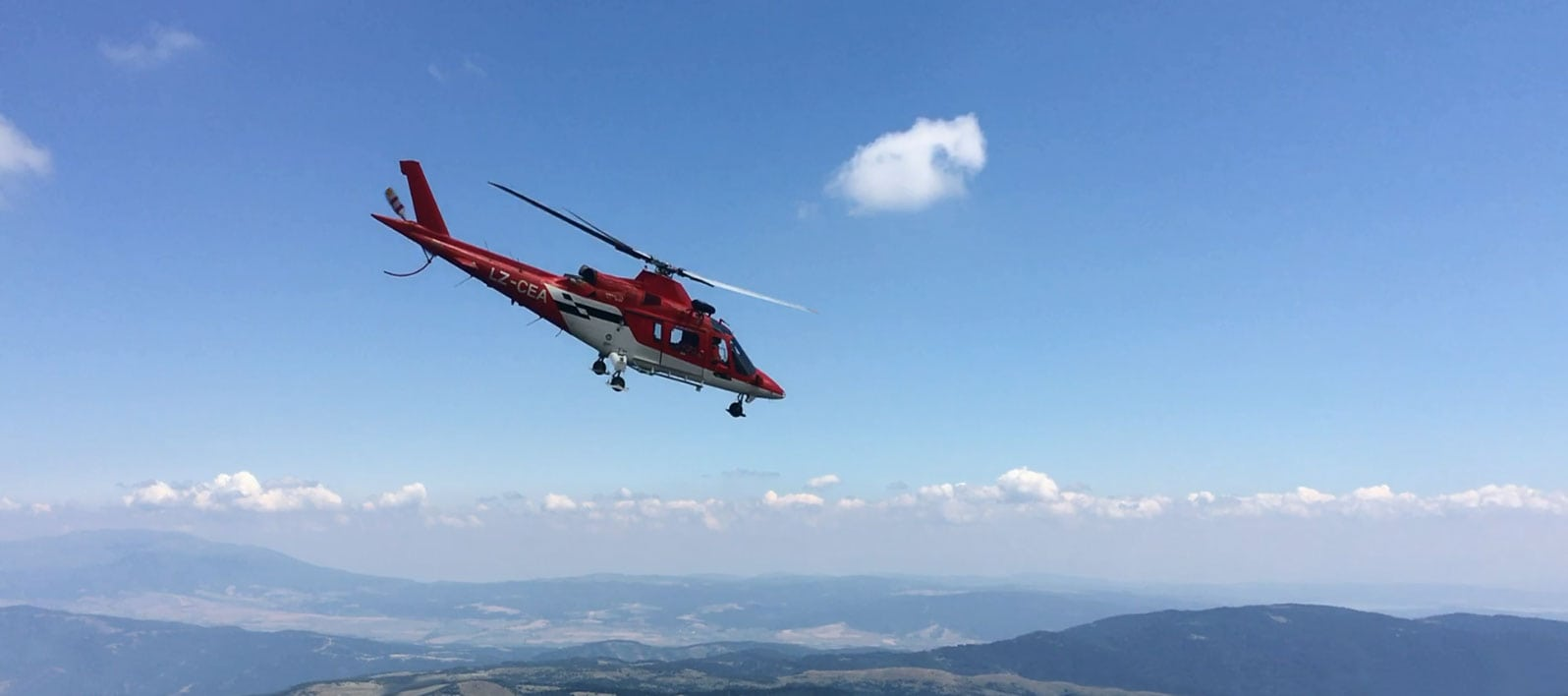 Helicopter: AugustaWestland A 139 avio medical helicopter with whinch cabel system