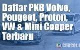 Daftar Pajak Mobil Mini Cooper, Peugeot, Proton, Volvo, VW