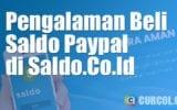 Pengalaman Membeli Saldo Paypal di Saldo.Co.Id
