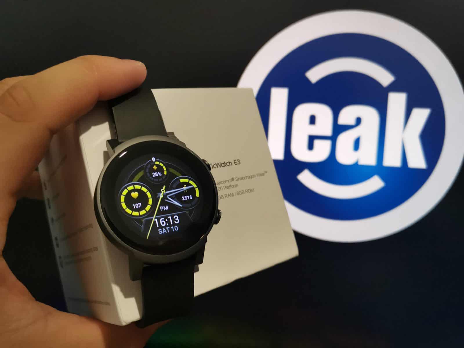 TicWatch E3 smartwatch