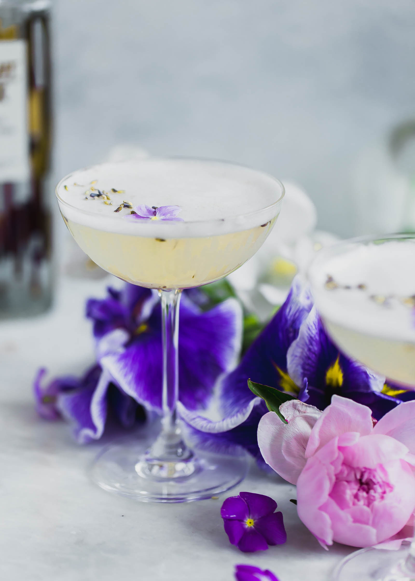 A crisp combination of lavender, coconut water, and vodka make for a seriously refreshing summer cocktail.