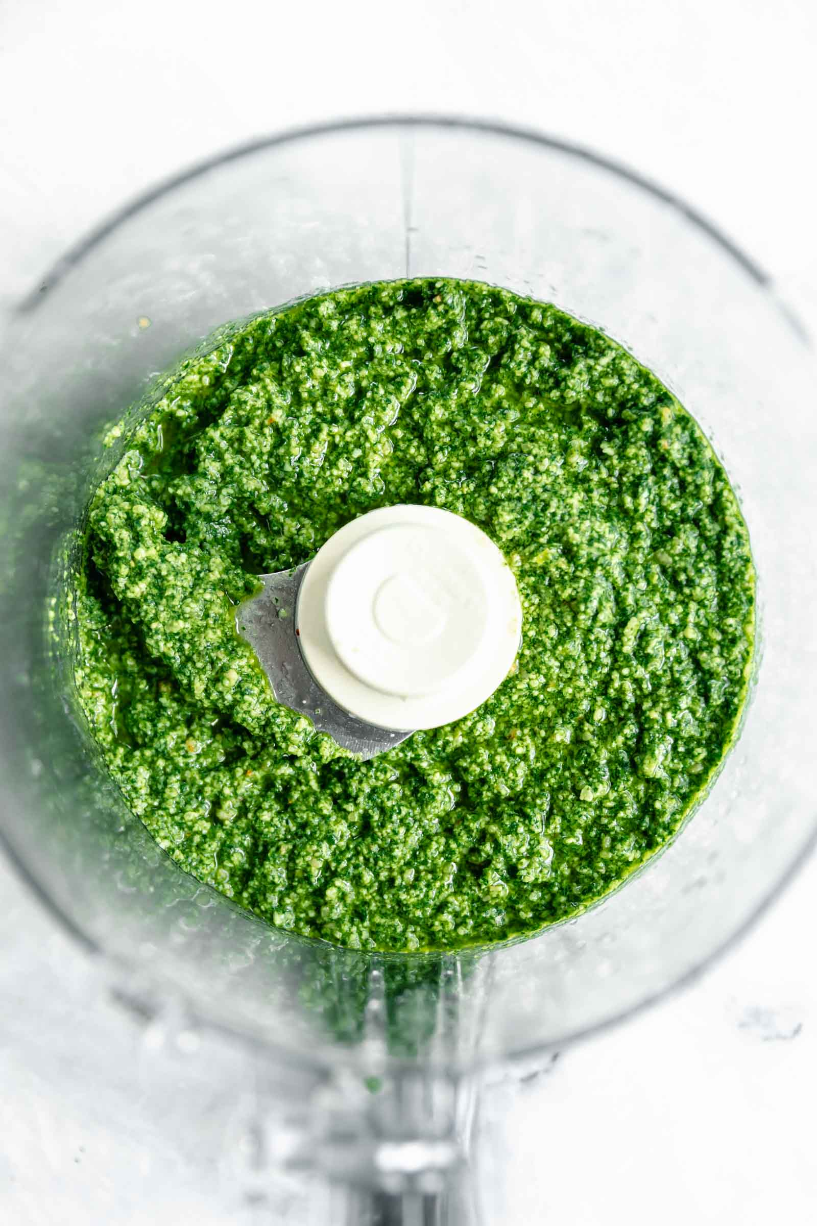 easy homemade pesto in a food processor
