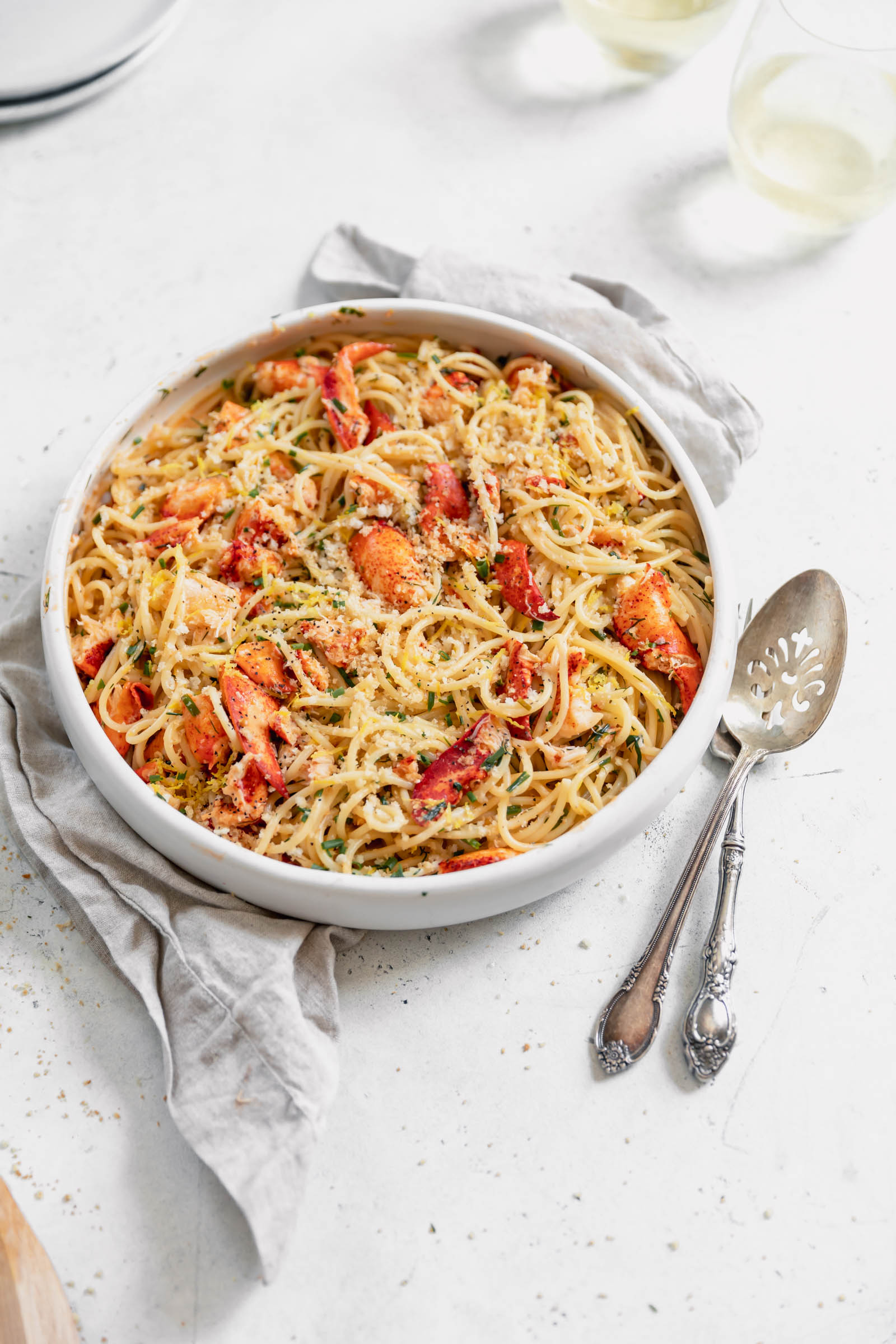 lobster pasta with white wine