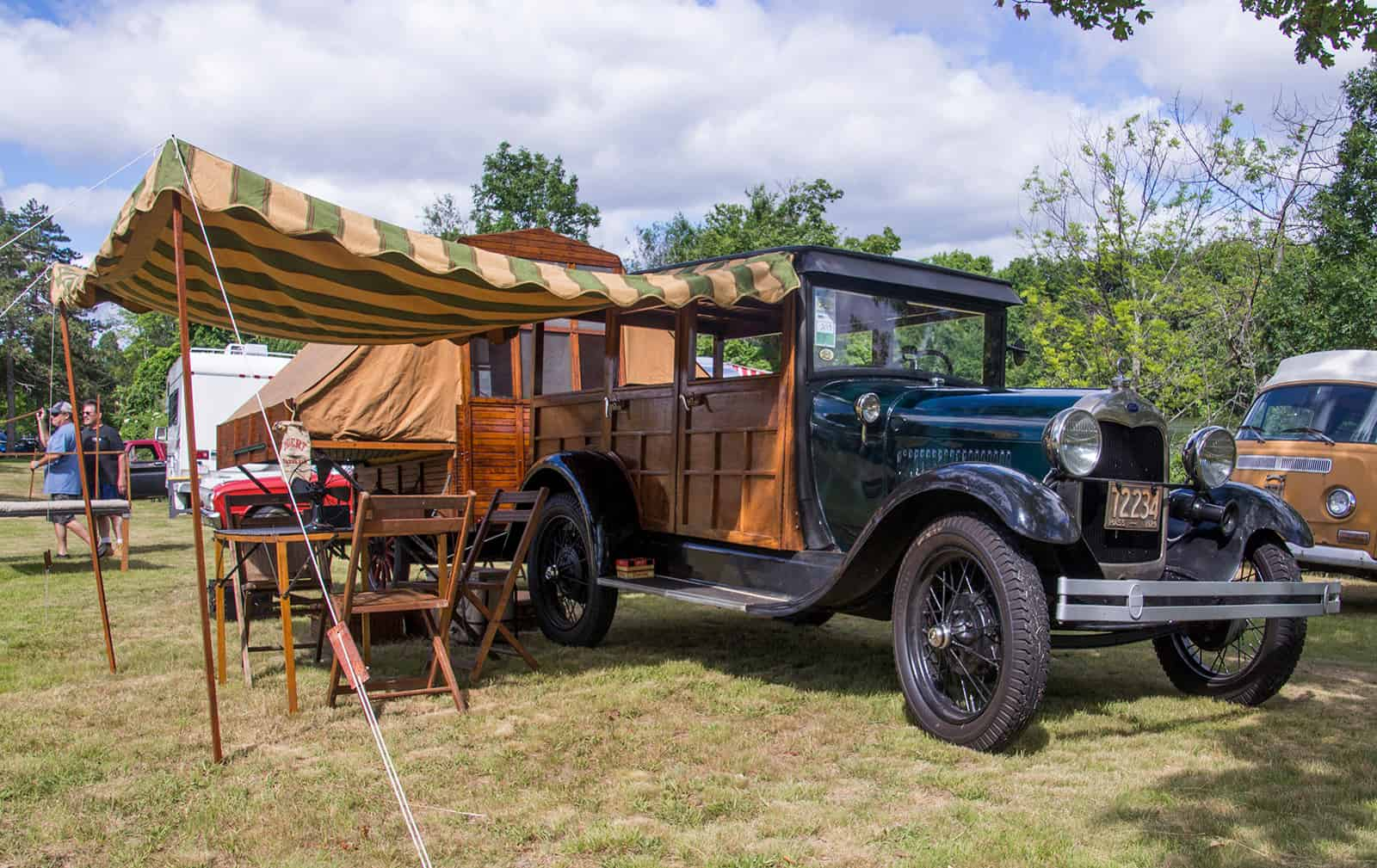 2016 Cars of Summer 1929 Ford Model A Station Wagon - Woody Camping Rig
