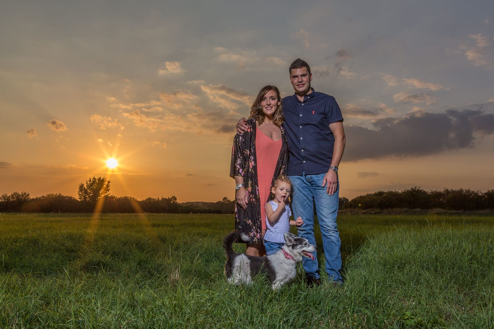 family sunset portrait