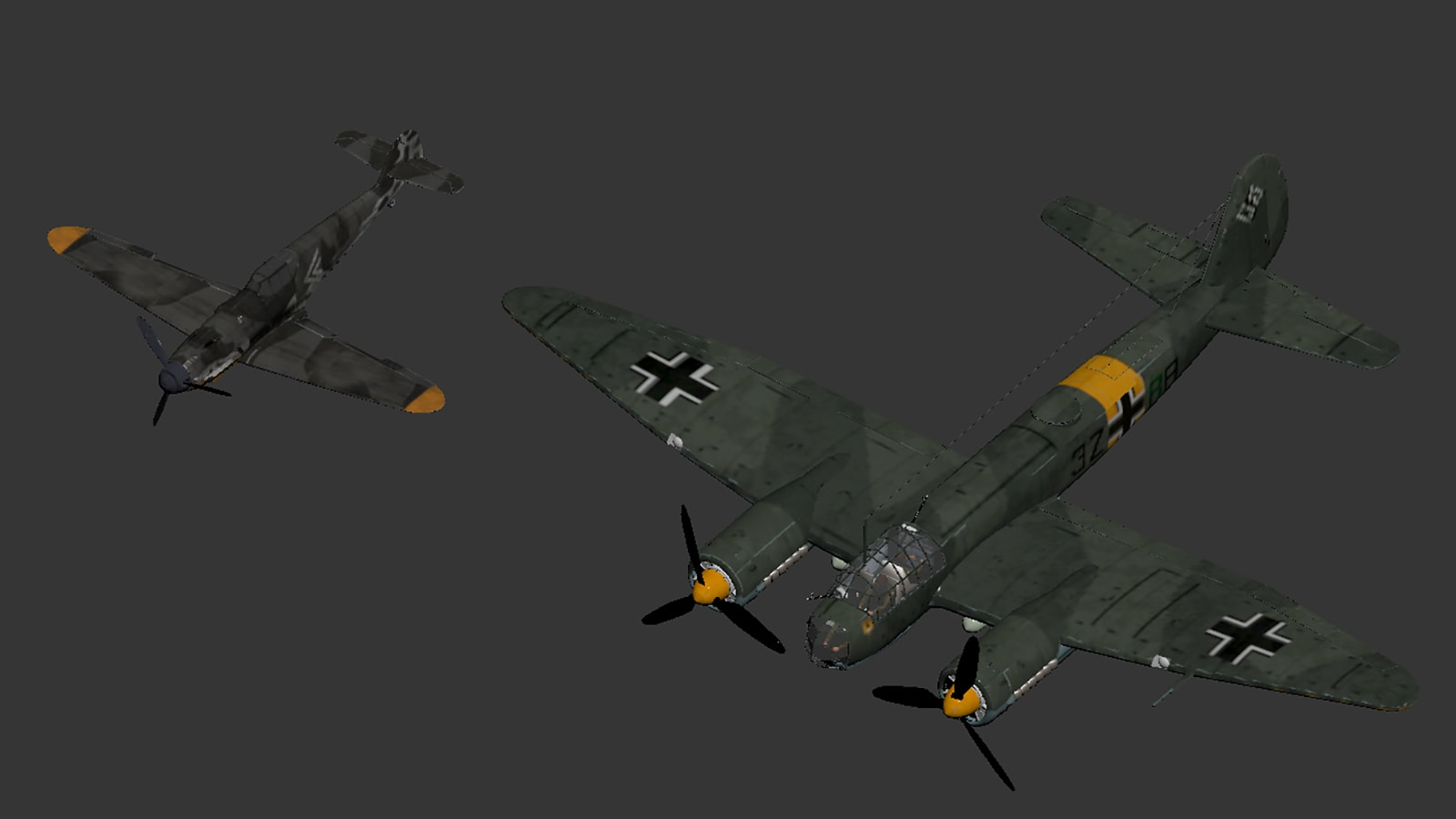 Junckers 88 & Messerschmidt BF 109