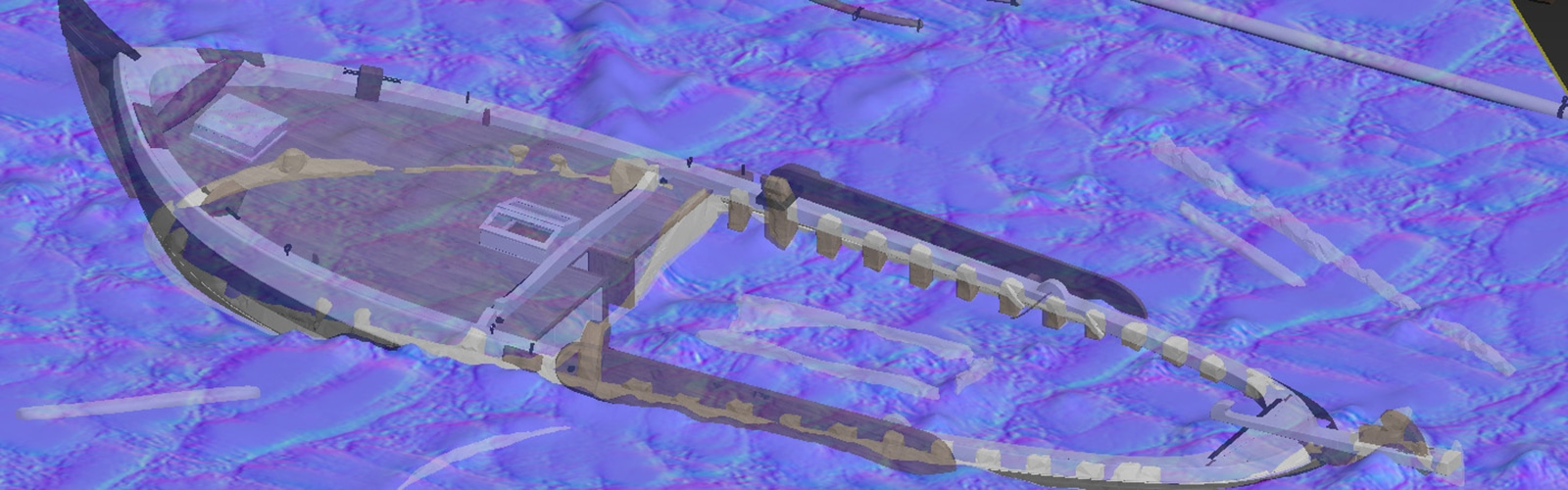 Botter wrak scan data overlay intacte wrak