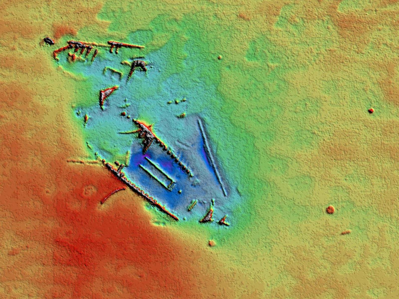 Botter wrak sonar