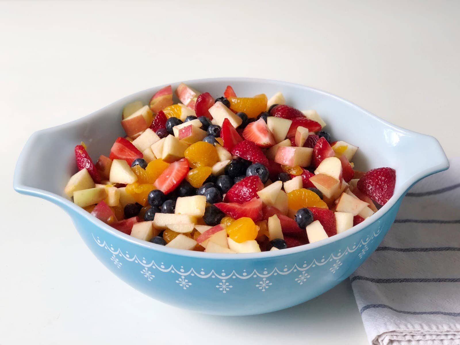 Wondering how to make fruit salad? Use this fruit salad recipe for get-togethers, parties, a side dish for grilling out, or a snack on the go.