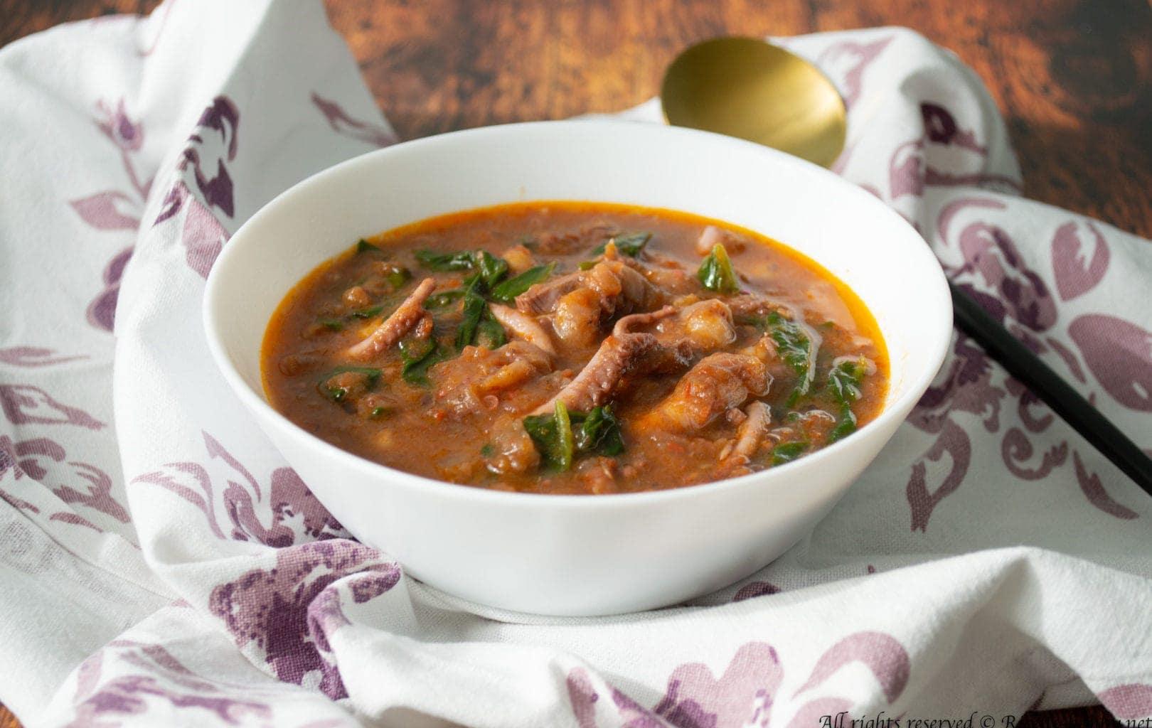 Zuppa di polpo, patate e ceci Bimby