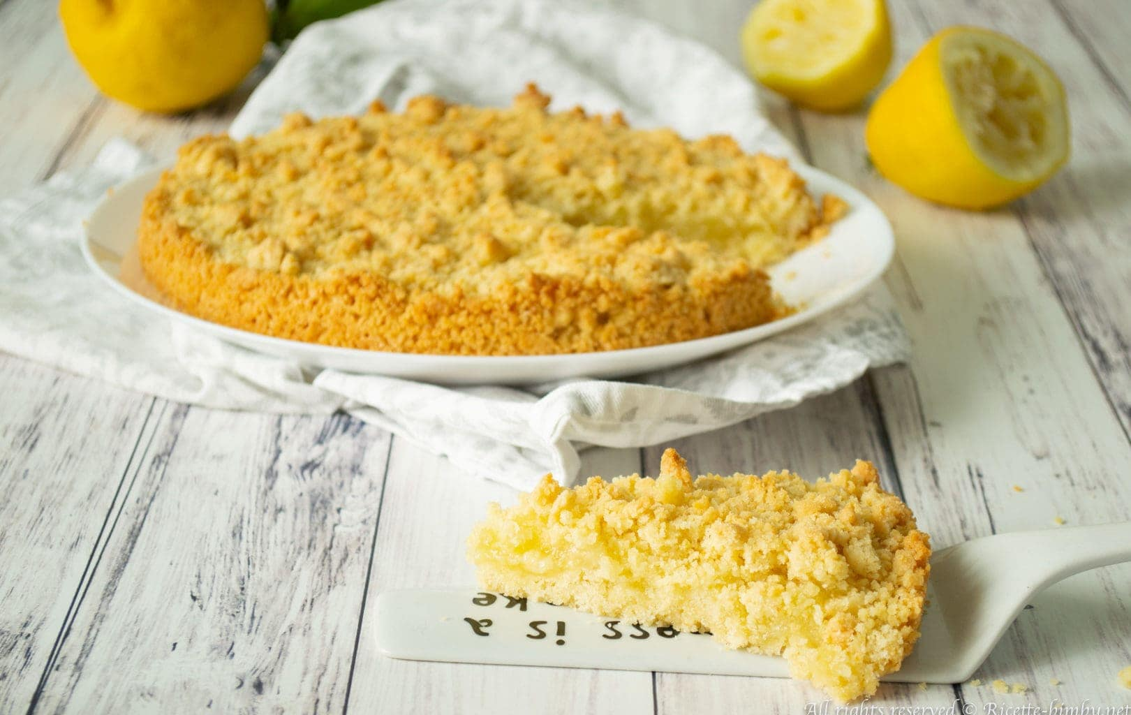 Sbriciolata al limone Bimby
