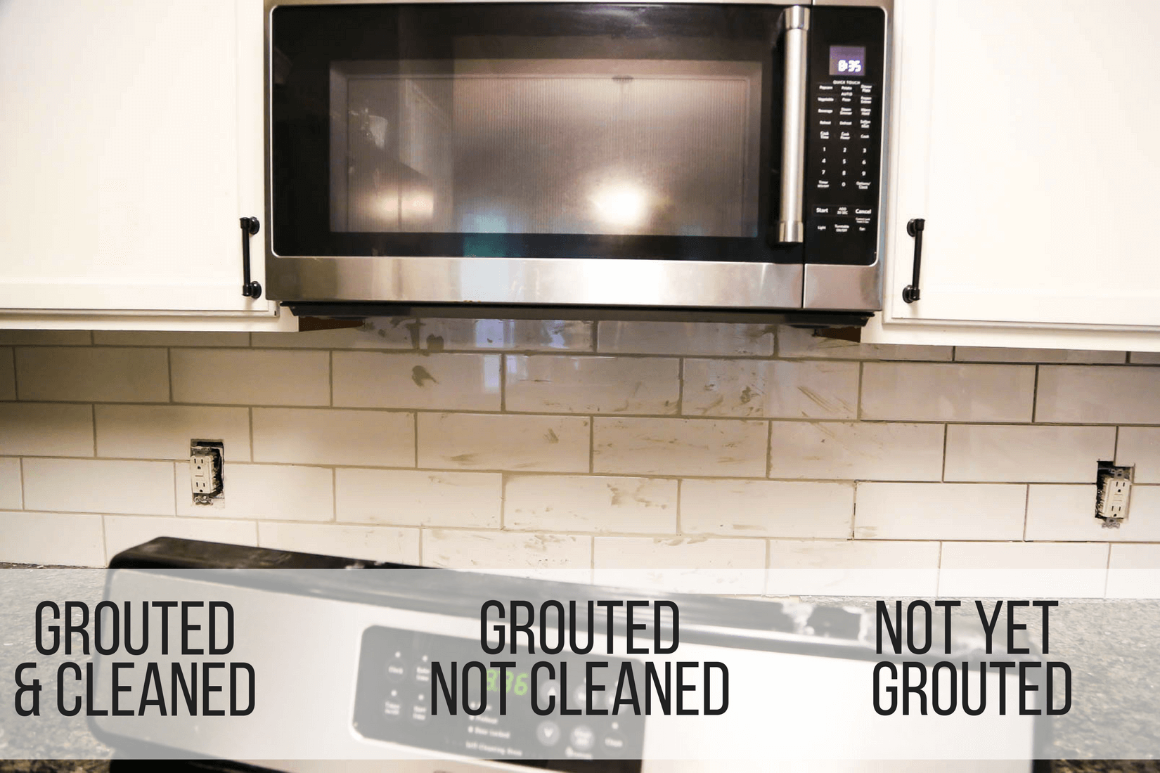 Grouted vs. ungrouted tile
