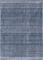 niebieski dywan we wzory scarab blue 8676