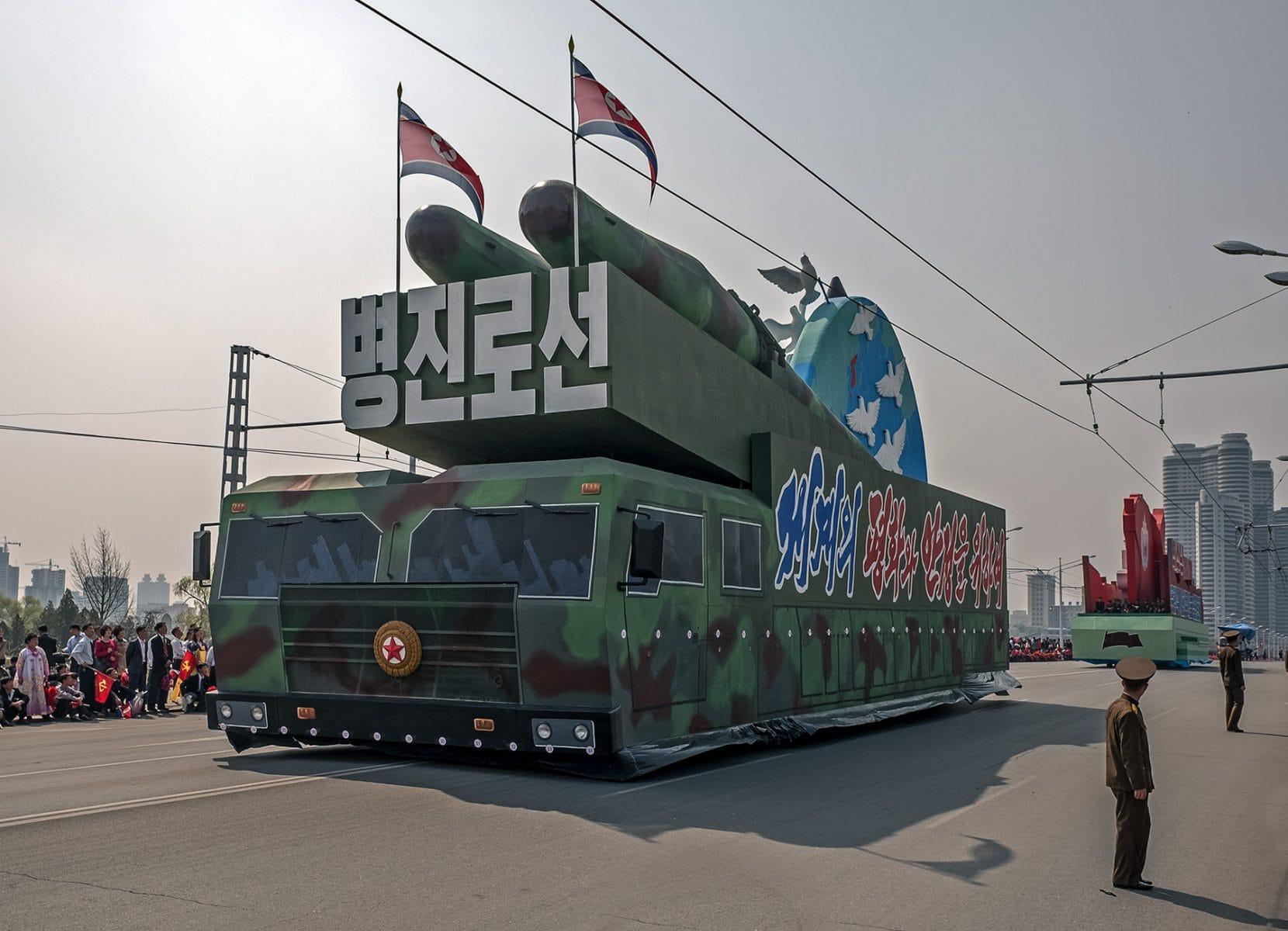 Paradewagen mit Aufbauten