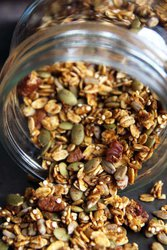 Jar of Healthy Pumpkin Granola