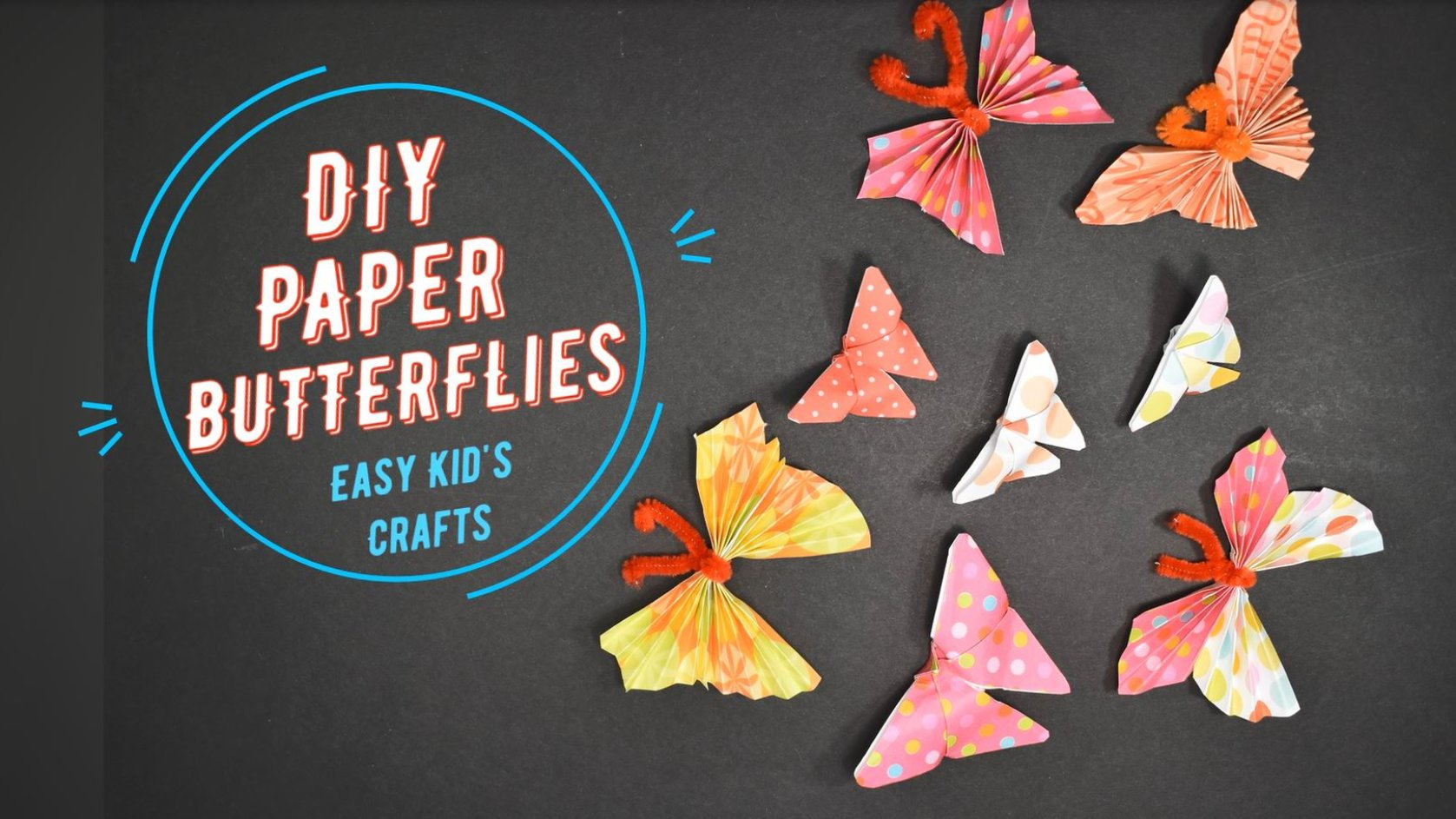 DIY Paper Butterfly Featured Image