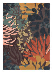 pomarańczowo brązowy dywan w kwiaty Estella Submarine 89405