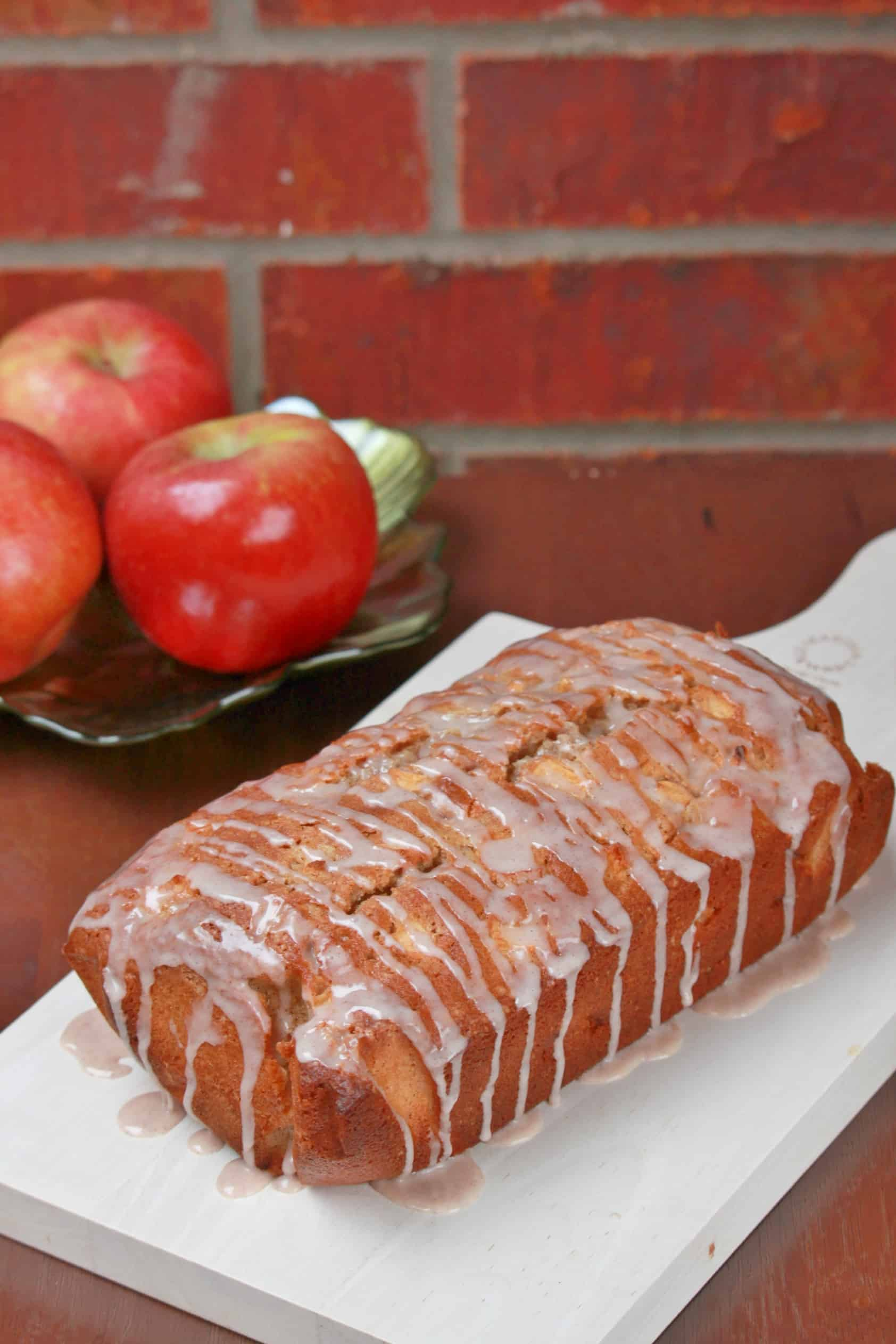 Cinnamon Glazed Apple Bread