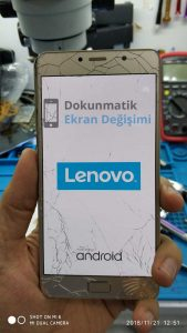 lenovo p2 kırık cam değişiminden önce