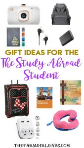 Gift Ideas For The Study Abroad Student. #Gift Ideas #CollegePlanning #Travel