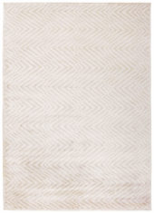 beżowy dywan geometryczny Cosmou Plume 7053
