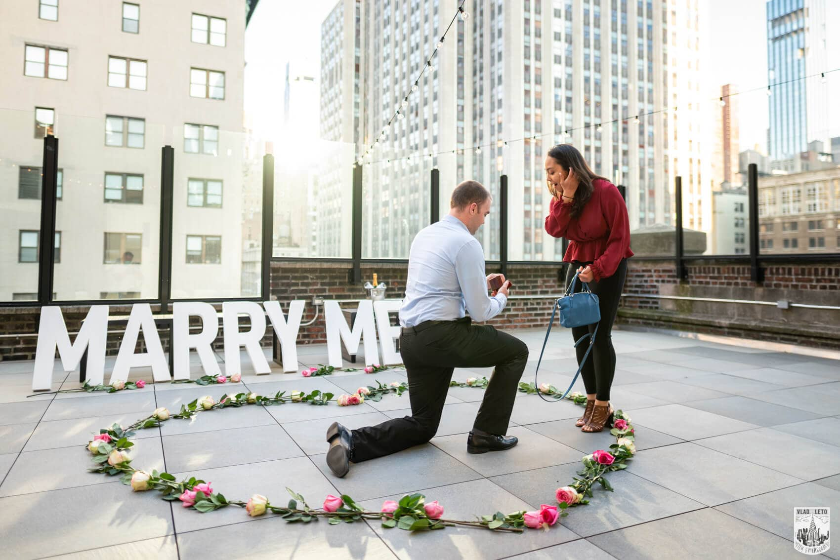 Marriage proposal Rooftop