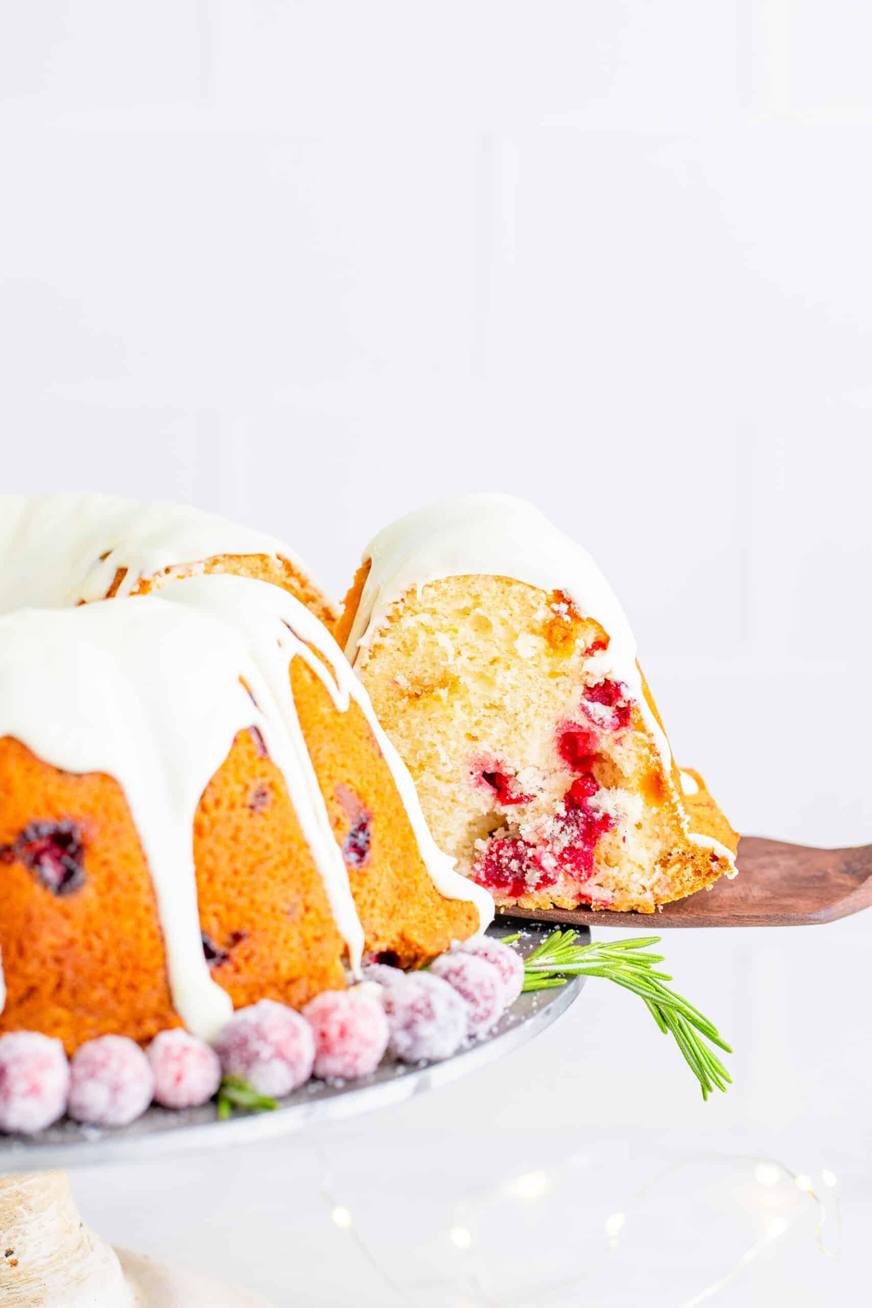 White Chocolate Cranberry Bundt Cake