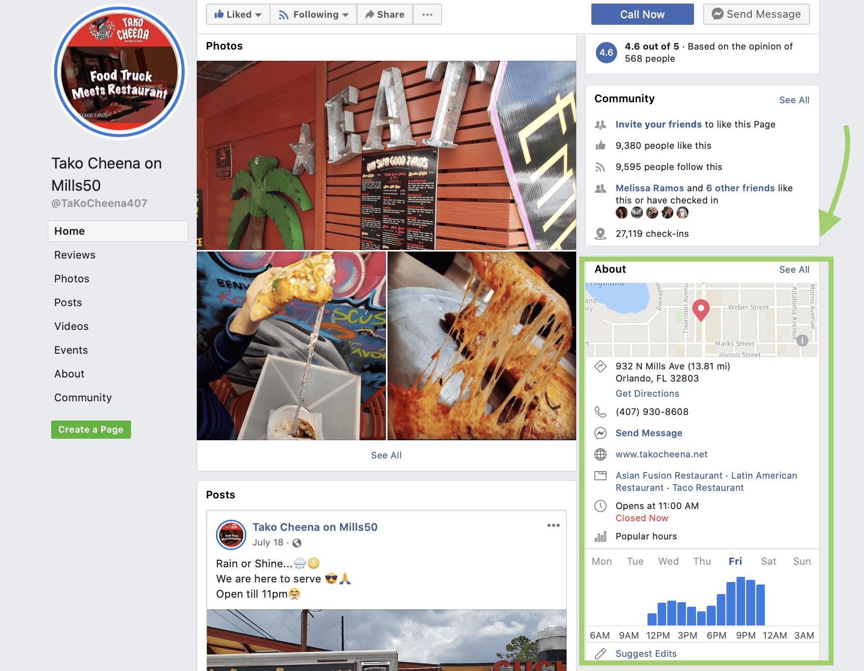 Facebook bio example