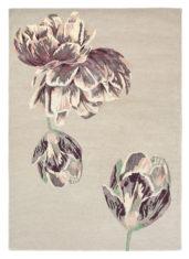 beżowo filoletowy dywan w kwiaty Tranquility Beige 56001