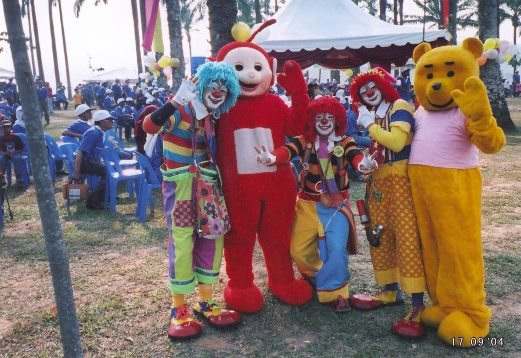 Mascots And Clowns at family day