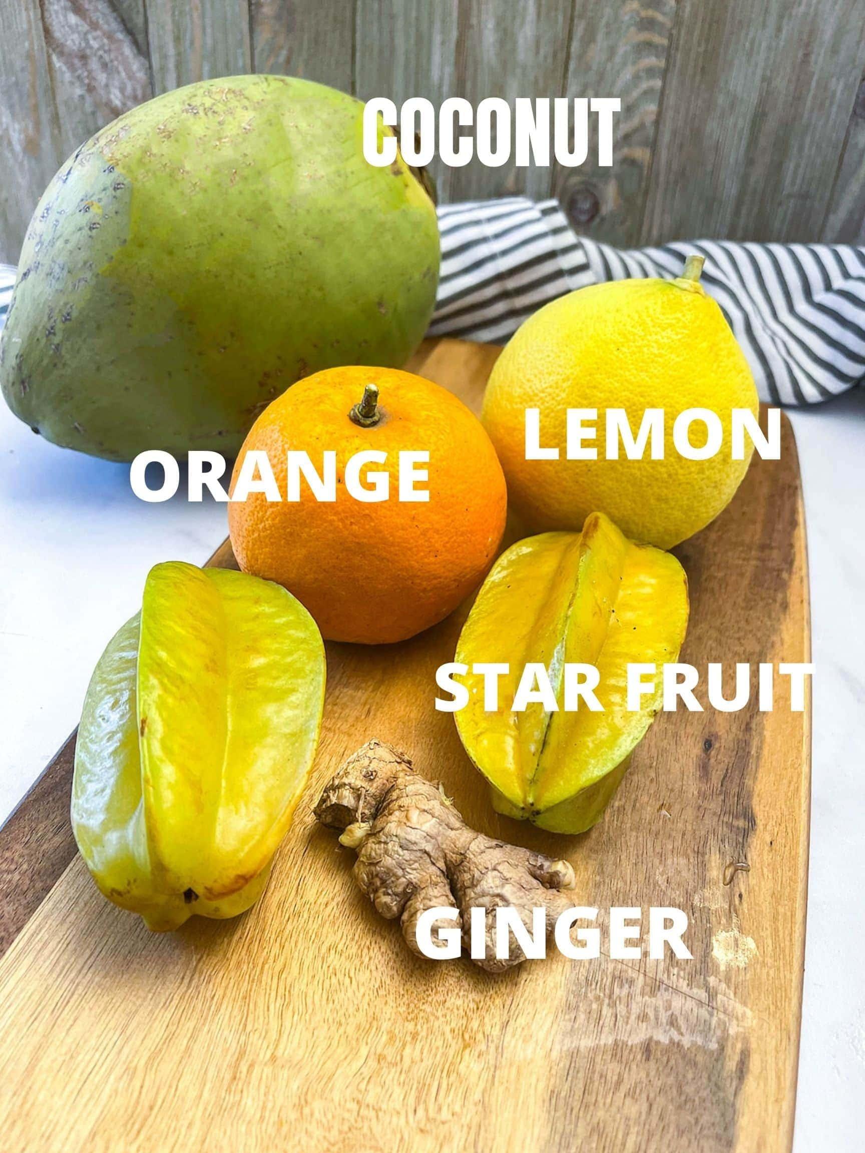 Star fruit juice ingredients