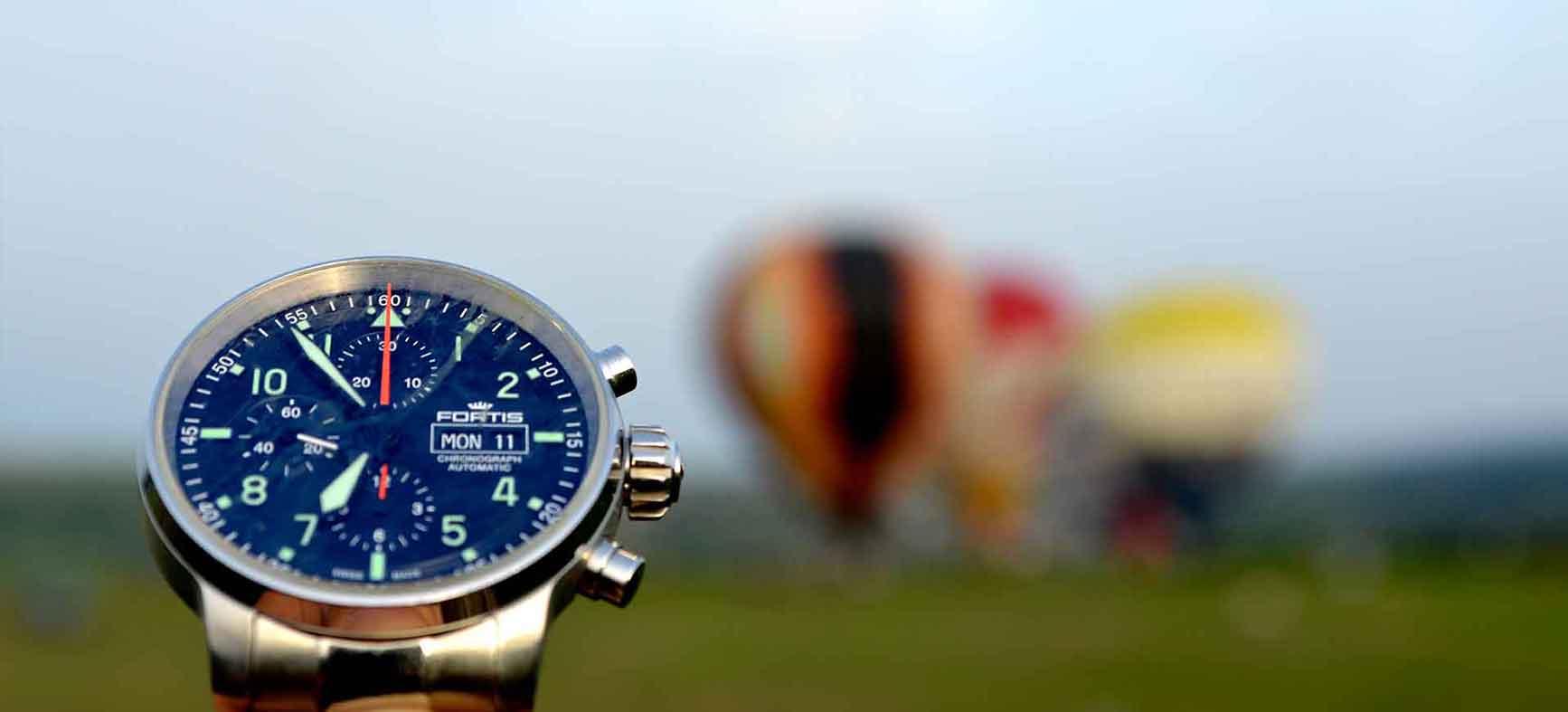 Fortis Swiss Watch hot air balloons