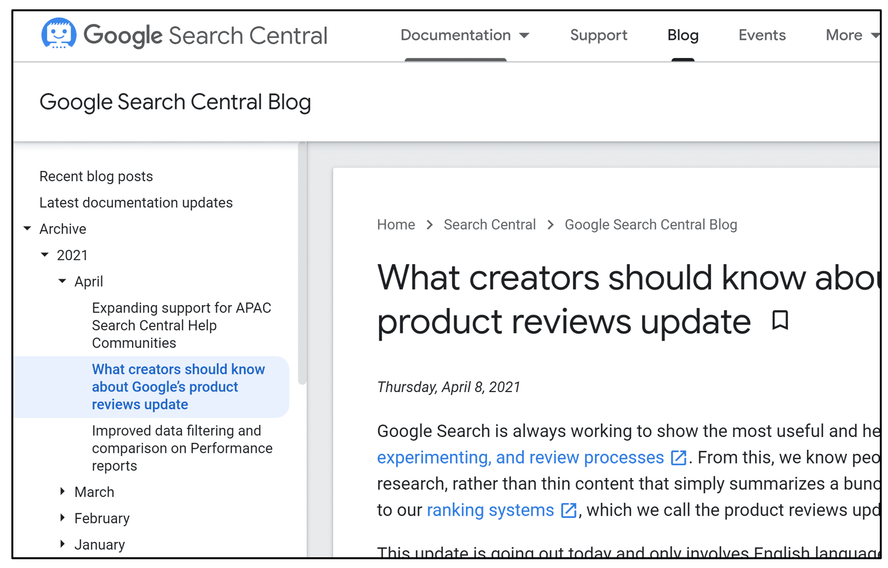 Google's Product Review Update, April 2021
