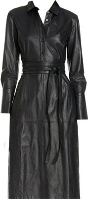 Long Sleeve Leather Shirtdress | fashion over 40 | style | fashion | 40plusstyle.com