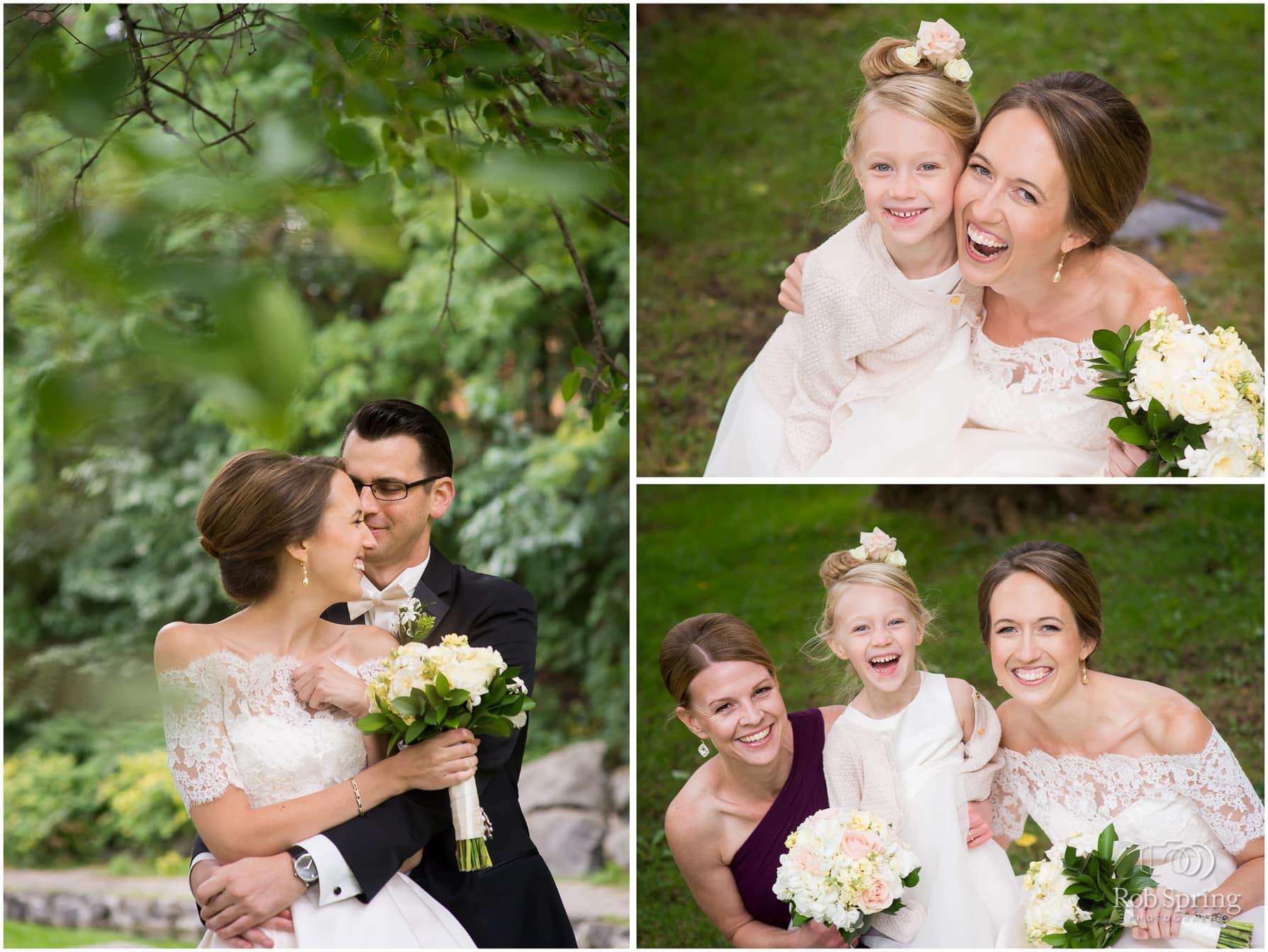 Bride with flower girl, Saratoga Springs, NY Wedding photos