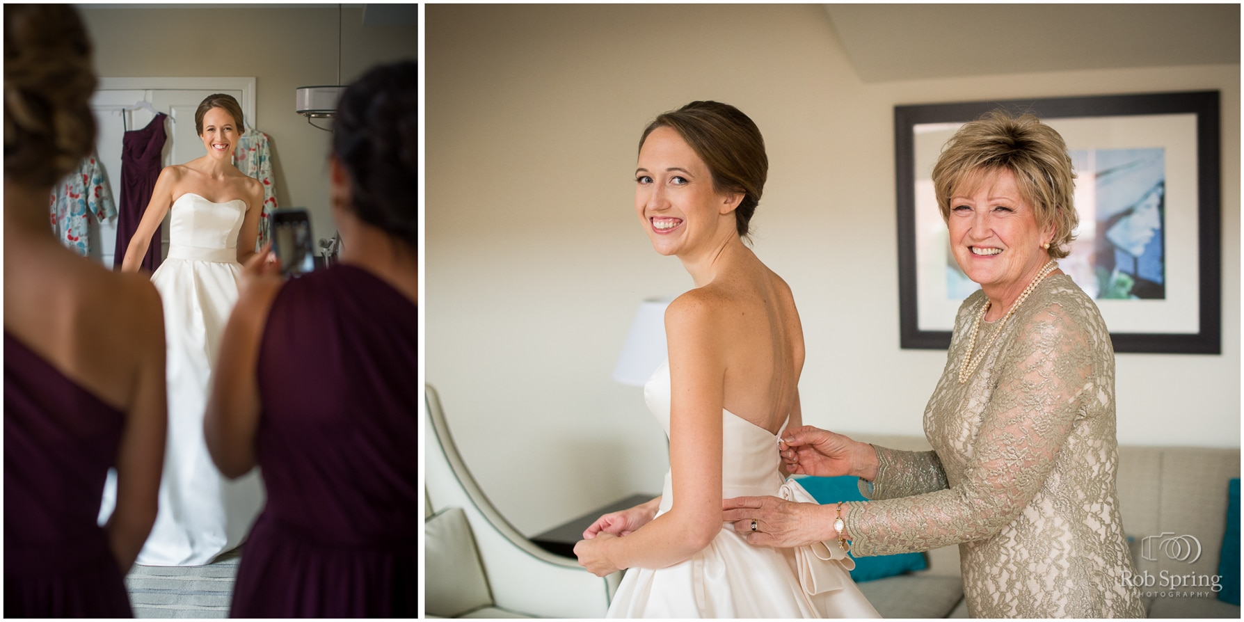 Bride getting ready at Pavilion Grand Hotel, Saratoga Springs, NY wedding photographer | Canfield Casino wedding