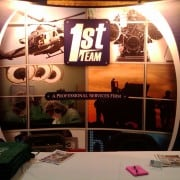 1st Team exhibits at expo