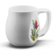 Parrot mug made from fine bone china and mad in Britain.