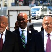 (in the Pic - Minister Pravin Gordhan flanked by Deputy Minister Mcebisi Jonas